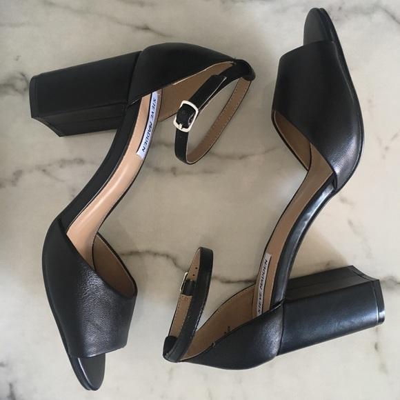 71ec9573160 NEW Steve Madden Mirna Black Leather Heels 9.5